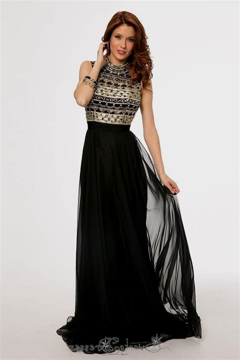 Black N Gold Prom Gown black and gold evening dresses plus size tops