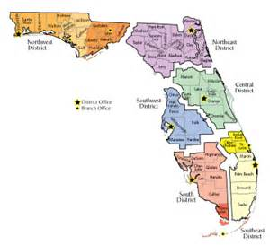 florida school districts map florida fdep wastewater contacts