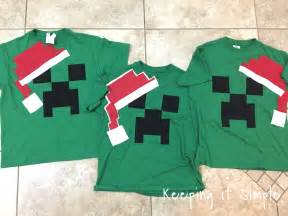 keeping it simple diy easy minecraft christmas pajamas