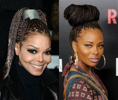 celebrities with box braids big box braids for black women to style immediately