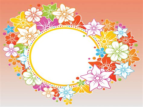 Orange Flowers Backgrounds Flowers Multi Color Templates Free Ppt Grounds And Powerpoint Flower Template Powerpoint