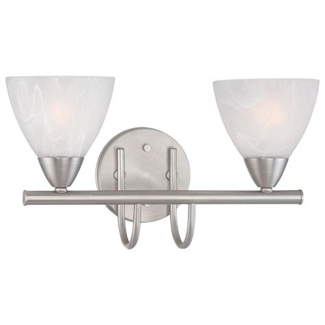 Bathroom Light Fixture Home Depot Lighting 2 Light Matte Nickel Bath Fixture 190016117 The Home Depot