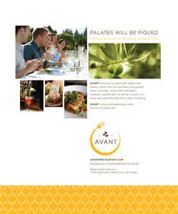 magazine ad layout for a new restaurant chris keach design