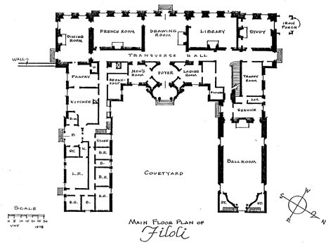 floor plan for mansion of all design filoli floorplan