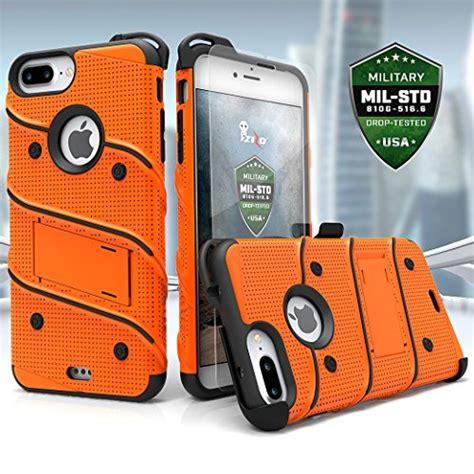 zizo bolt series compatible  iphone   case military grade drop tested tempered glass