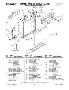 whirlpool partner iii parts diagram whirlpool dishwasher parts partner ii diagram get