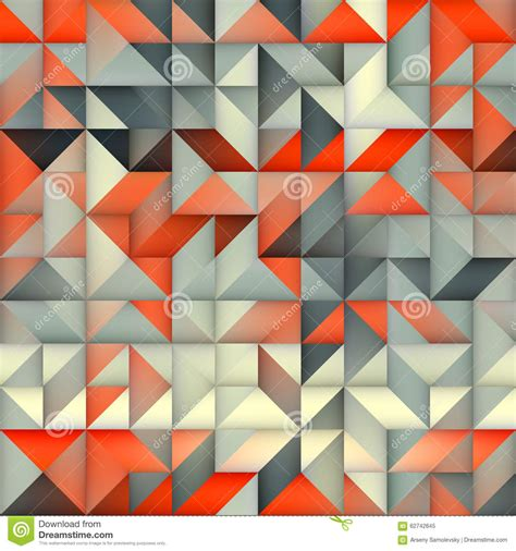 pattern orange grey random square multicolor pattern royalty free stock image