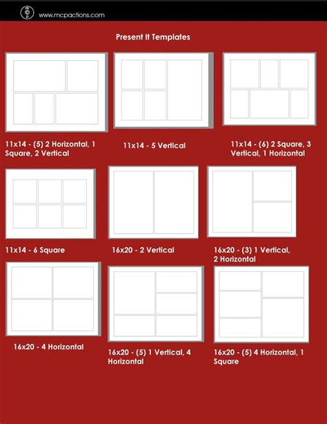 print templates for photoshop present it for print templates lightroom presets mcp