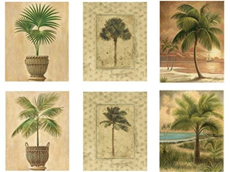 6 tropical palm tree prints beachy feel home decor