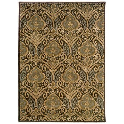 green damask rug weavers casablanca damask rug in green bed bath beyond