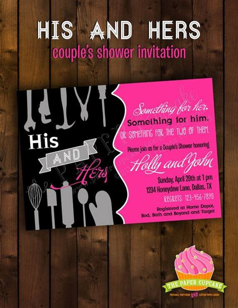 his and hers invitations templates best of wedding shower invitations his and hers ideas