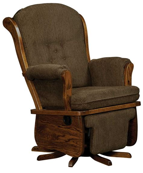 amish recliners swanback swivel glider amish direct furniture