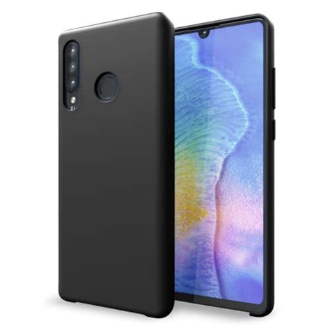 hoesje huawei p30 lite siliconen zwart cover back cover