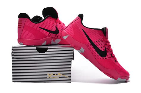 nike pink basketball shoes nike 11 em breast cancer pink black basketball shoes
