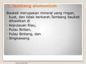 Dan Manfaat Sho Metal persebaran dan manfaat barang tambang di indonesia tugas