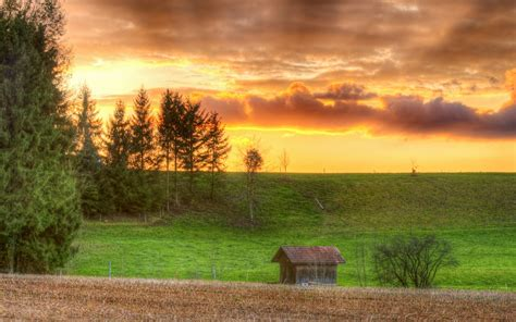 Small Home Desktop Small Wooden Houses And Sunset Ii 1280x800 Wallpaper