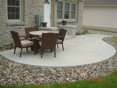 Lave Patio by The Surrounding The Concrete Patio Gardening