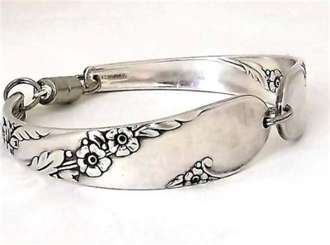 Handmade Flatware - large spoon bracelet bridal wreath 1915 handmade jewelry