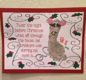 twas the night before christmas printable daycare ideas