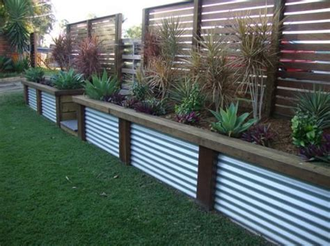 Corrugated Iron Planters corrugated metal planter outdoors