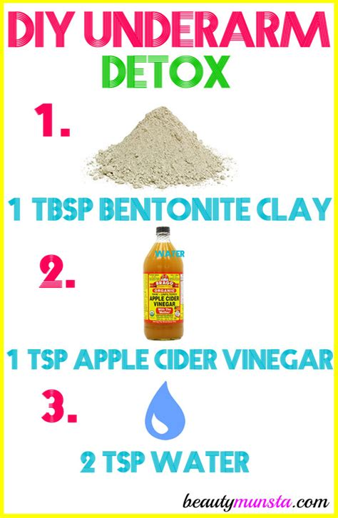 Detox Armpits With Apple Cider Vinegar by Diy Underarm Detox Beautymunsta
