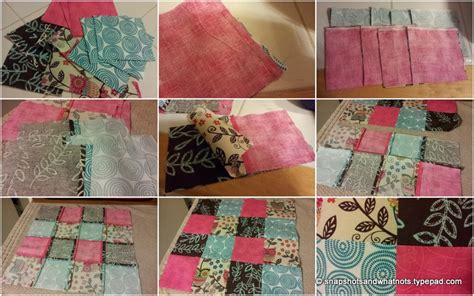 Sewn Patchwork Projects - patchwork cushion beginner sewing project 3 snapshots