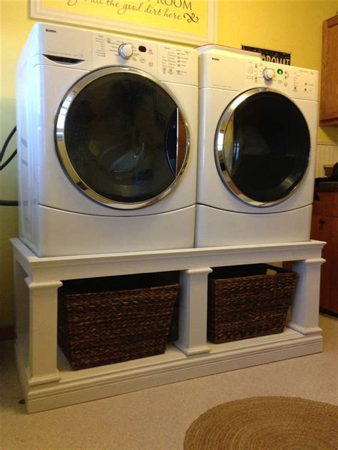Washer Dryer Stands Pedestal front load washer dryer stand great way to get your