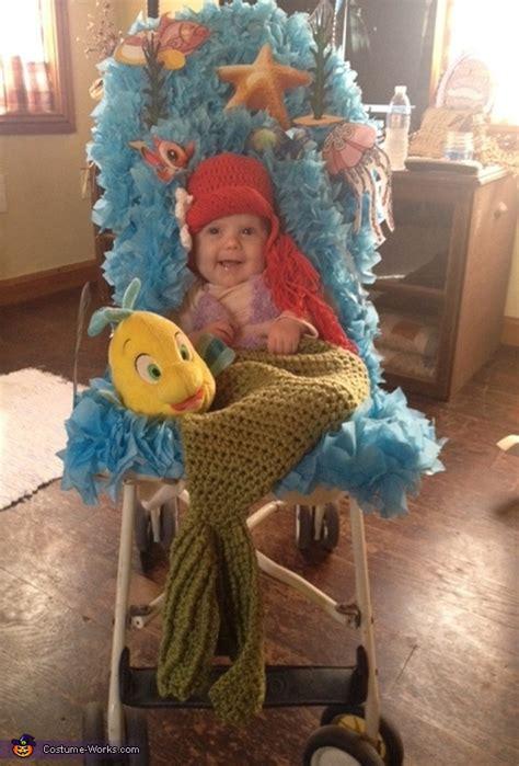 mermaid baby costume diy  minute costume