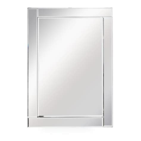 wilko all glass frame mirror large 75 x 105cm at wilko