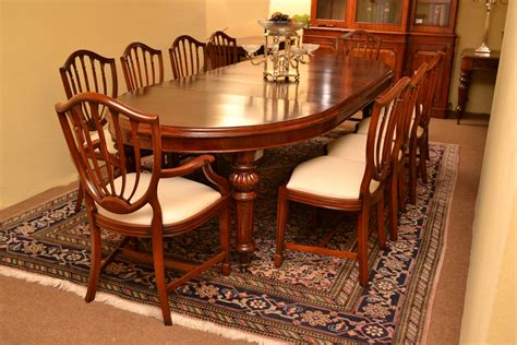antique style dining table and chairs antique dining table 10 chairs hepplewhite