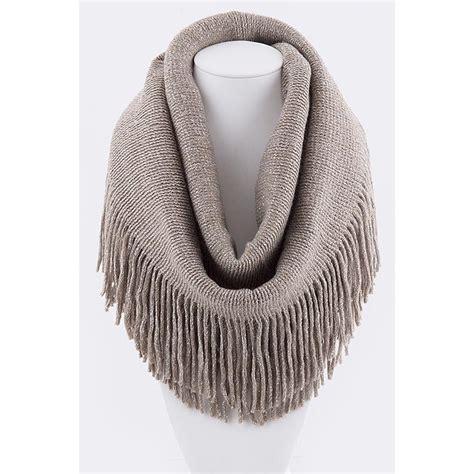 sparkle fringe infinity scarf at haulitgirl