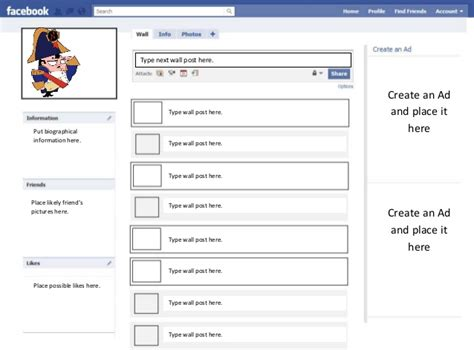 fake facebook post template assignment template
