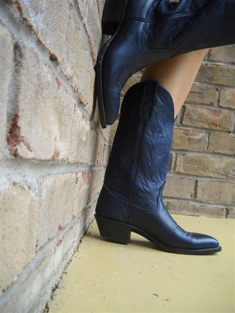 reserved vintage nocona s cowboy boots navy blue