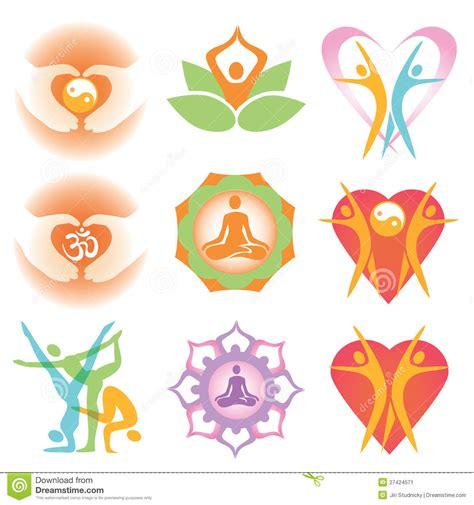 fiore pilates simboli delle icone di salute di immagine stock