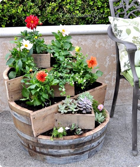 How To Make A Barrel Planter by Stylish Diy Planters For