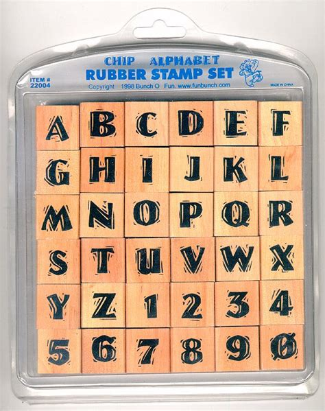 large alphabet rubber sts chip rubber st alphabet set 36 sts
