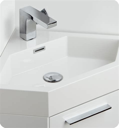 White Corner Bathroom Vanity 18 Fresca Coda Fvn5084wh White Modern Corner Bathroom Vanity W Optional Medicine Cabinet