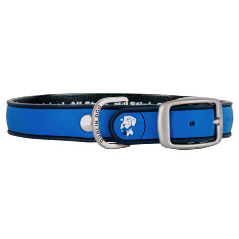 dublin collars dublin waterproof collar simply solid blue ribbon pet365 co uk