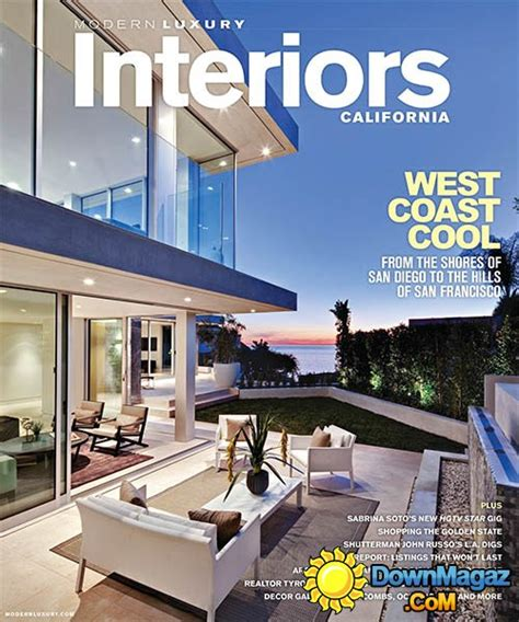 luxury home design magazine download modern luxury interiors california summer 2013