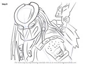 step by step how to draw predator from mortal kombat x