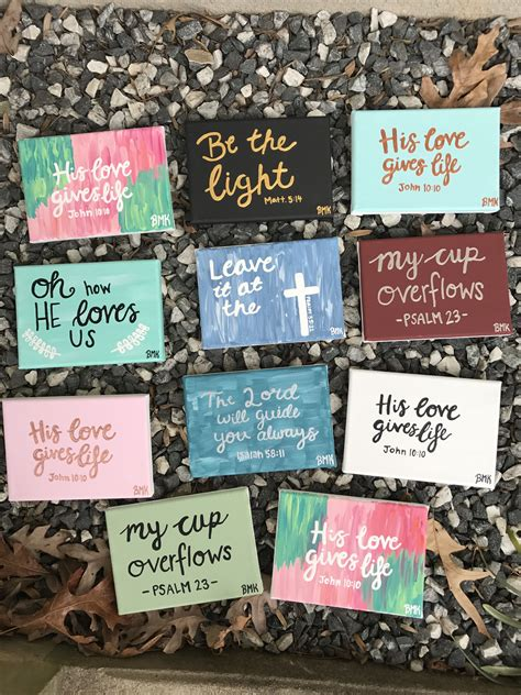 Little Mini Canvases For Christmas Presents Bible Verse Bible Verses Ideas