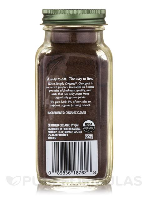 Simply Organic Organic Cloves Ground ground cloves 2 82 oz 80 grams