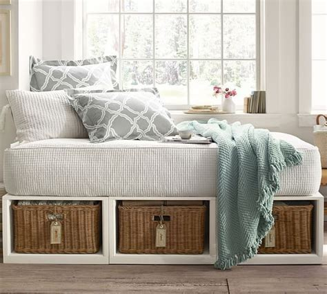 daybed with baskets stratton daybed with baskets pure white daybed pottery