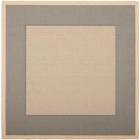 Outdoor Rugs Square Safavieh Courtyard Gray 7 Ft 10 In X 7 Ft 10 In Square Indoor Outdoor Area Rug Cy7987