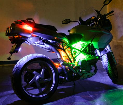 led light strips for motorcycles motorcycle led lighting kit weatherproof rgb color