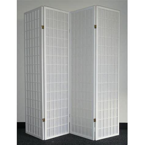 white photo screen room divider