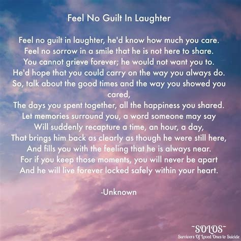 Feeling Guilty No More by Feel No Guilt In Laughter My With My Grief