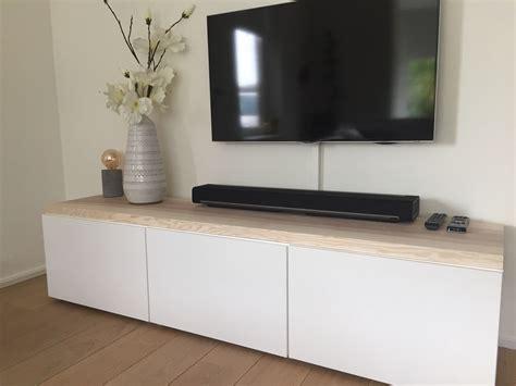 besta zwevend besta ikea hack moderne strakke tv meubel