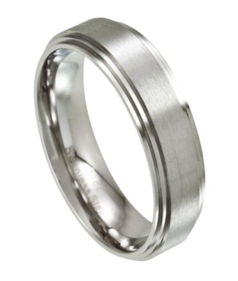 stainless steel rings for s stainless steel wedding ring satin finish 7mm width