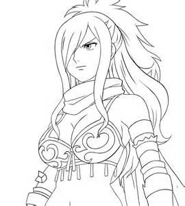 Fairy Tail Erza Coloring Pages Sketch Page sketch template
